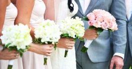 Blumenschmuck und Dekoration bei der Hochzeit