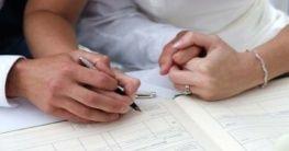 Hochzeitsunterschrift
