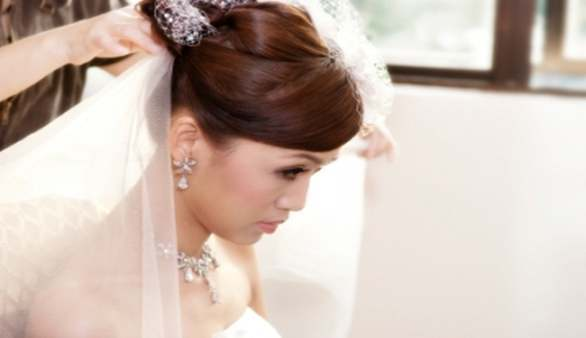 Der Frisortermin Vor Einer Hochzeit